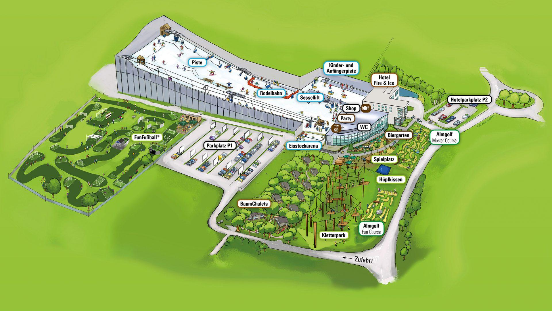 Lageplan des Alpenpark Neuss
